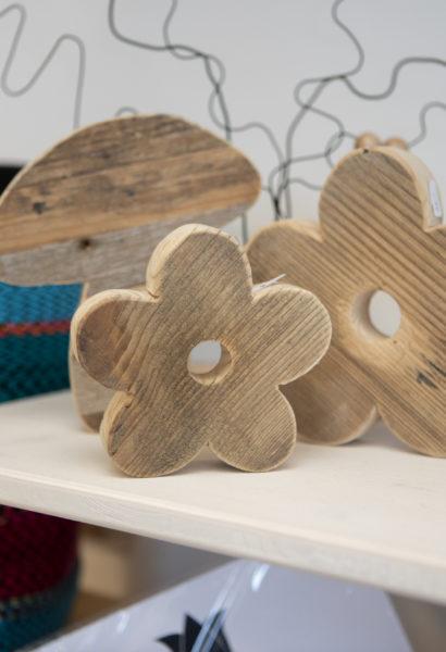 Fleur - en bois de palette, différentes tailles