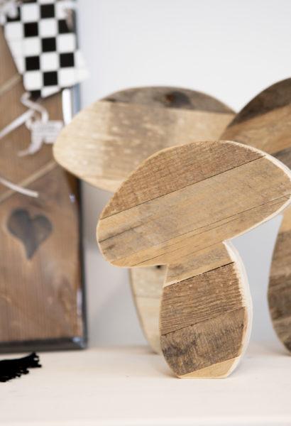 Champignon - en bois de palette, différentes tailles